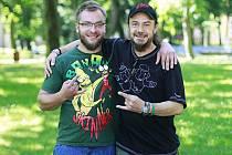 Tomáš Janatka, člen kapely DPK, a Martin Půlpán, jeden z organizátorů festivalu Metalboří