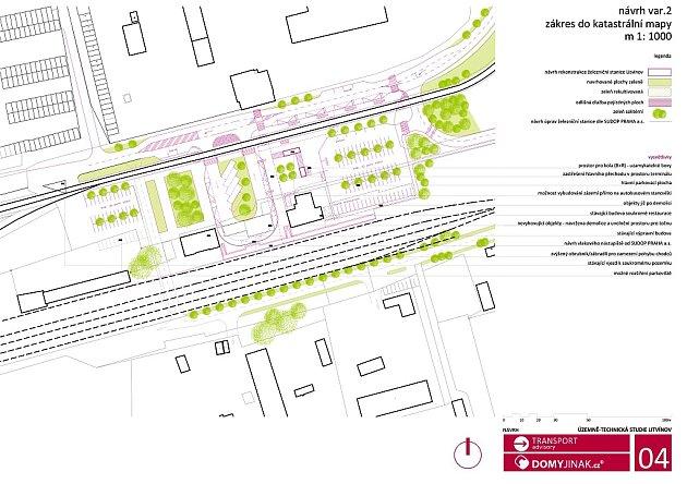 Předběžná studie nového terminálu vLitvínově. Podle připomínek města se může podoba nádraží ještě pozměnit