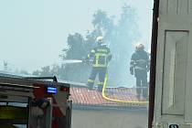 V Horním Jiřetíně hořela garáž.