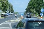 Most chystá stavební úpravy ulice SNP, kde vzniknou nová okružní křižovatka a červené cyklopruhy.