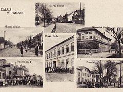 Historická pohlednice Záluží.