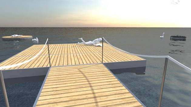 CHYSTANÉ NOVINKY. Takto má vypadat část pobřeží velkého jezera u Mostu. Začíná klíčové stavební období, které má skončit v roce 2018 otevřením jezera pro veřejnost.
