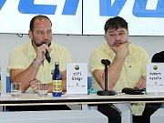 Generální manažer HC Verva Litvínov Robert Kysela (vpravo).