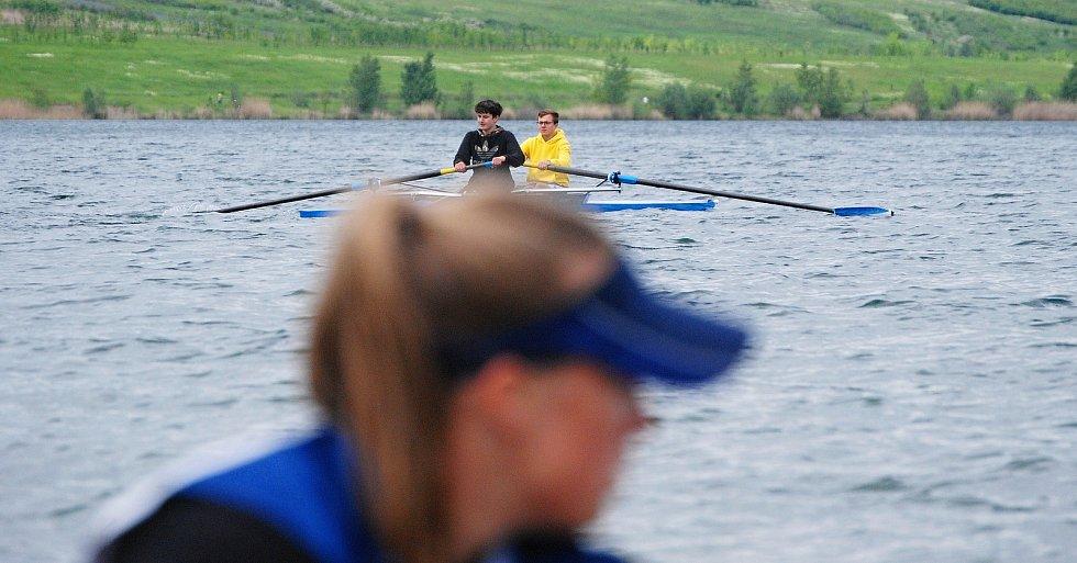 Soustředění Veslařského klubu Ohře Louny na jezeru Most.