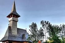 Dřevěný pravoslavný kostelík v Mostě.