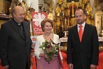 Převzetí Ceny Charity Česká republika za zásluhy o rozvoj charitního díla v Praze