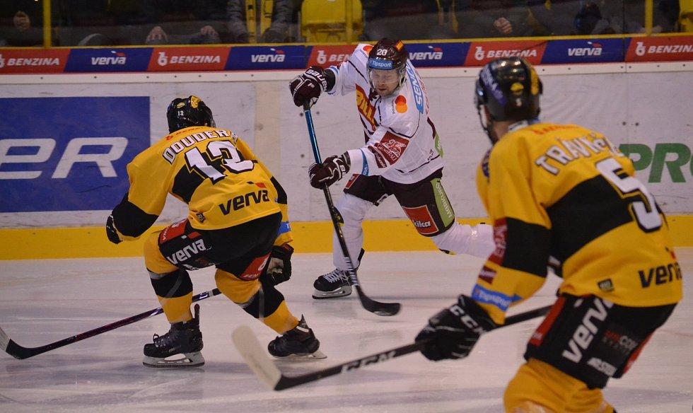 Litvínov před vyprodaným hledištěm hrál s pražskou Spartou.