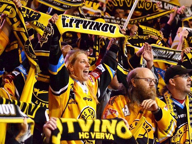 Fanoušci litvínovského hokeje