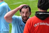 Fotbalista Chomutova Martin Boček, který ve výběru malé kopané hraje i za Most.
