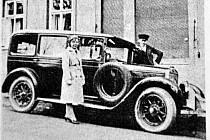 První auto v Horním Jiřetíně.
