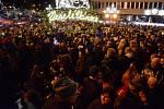 Rozsvícení vánočního stromu na 1. náměstí v Mostě.