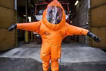 Speciální hasičský oblek.