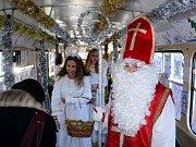 Mikulášská tramvaj v Mostě