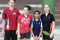 Mostečtí badmintonisté v Indii.
