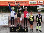Ocenění nejlepších mladých cyklistů.