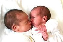 Mamince Jeleně Roubové z Chebu se 28. června narodila v 10.13 hodin dcera Kateřina Roubová, která vážila 1,98 kilogramu a měřila 43 centimetrů a v 10.14 dcera Karolína Roubová, která vážila 1,74 kilogramu a měřila 41 centimetrů.
