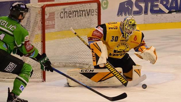 Litvínov hrál ve dvacátém kole doma s Mladou Boleslaví.