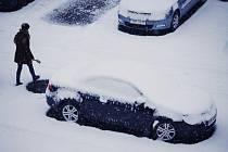 V Mostě napadl v úterý 1. prosince první sníh