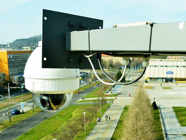 Kamera na radnici v Mostě.