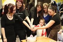 Při křestu se krájel i tematický dort od Vlaďky Dočekalové.