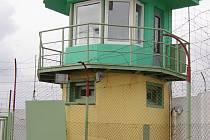 Strážní věž ve věznici Bělušice.