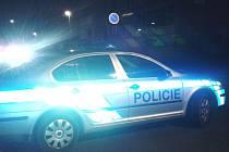 Policejní vůz.