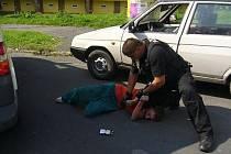 Zadržený řidič.