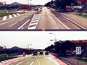 V Mostě mají vzniknout první regulérní červené cyklopruhy