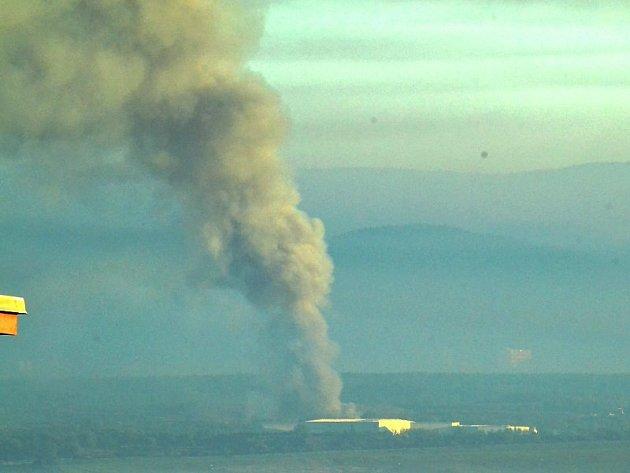 Úterý ráno, požár na Celiu.
