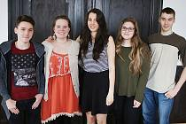 Jakub, Madeline, Olga, Abigail a Dominik (zleva)