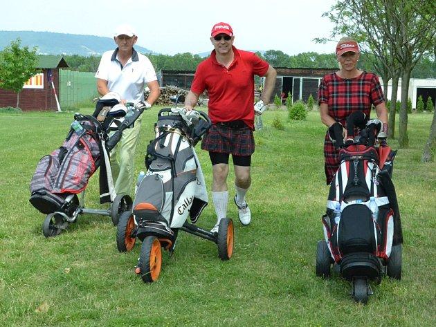 Skotský turnaj na golfovém hřišti v Mostě.