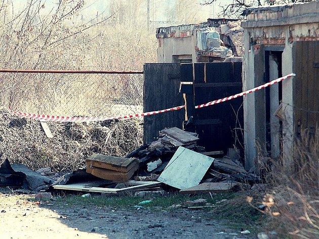 Garáž, kde došlo k neštěstí.