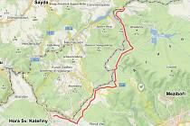 Mapka Naučné stezky Flájská hornatina.