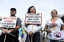 Demonstrace proti islámu, 1. náměstí v Mostě, 28. září.