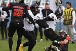 Hunters Most (ve tmavém) v domácím zápase proti teplickým Nordians.