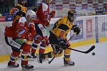 Třetí kolo hokejové extraligy mezi domácím Litvínovem a Pardubicemi.