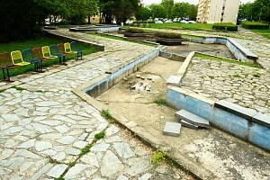 Park Střed v neděli 12. května ráno.