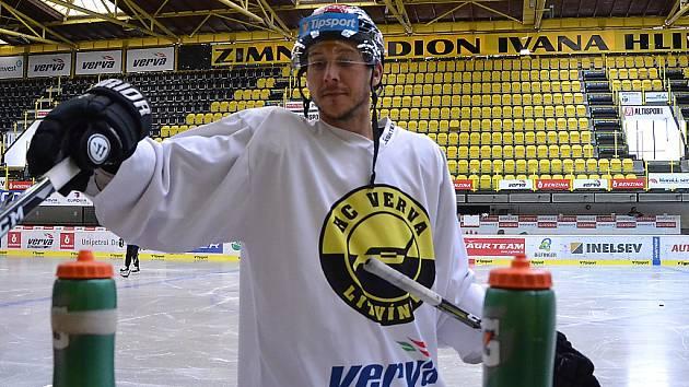 Litvínovský Jiří Doležal při jednom z tréninků letošní přípravy na novou sezonu.