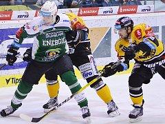 Litvínov po dvou porážkách zabral a venku porazil Karlovy Vary 3:2.