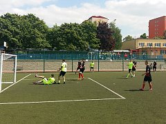 V Mostecké lize malé kopané se hrálo neúplné deváté kolo.
