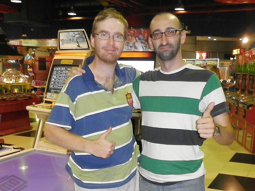 Jakub Hasil (vlevo) byl zlatý ve švédském Lundu.
