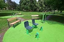Park u Pilařského rybníku v Litvínově se změnil