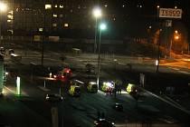 Požár a evakuace v ulici Wolkera v Mostě