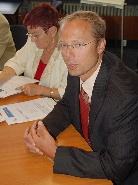 Vladimír Müller, ředitel mostecké nemocnice.