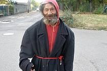 Palo Barkoci, nejznámější litvínovský bezdomovec.