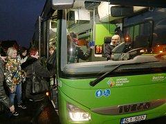 Zelený autobus Ústeckého kraje.