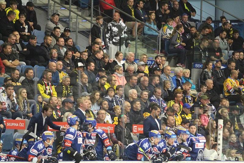 Fanoušci v Chomutově na duelu Kladno - Litvínov