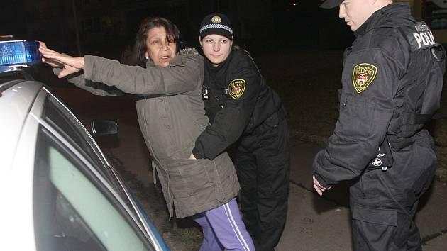 Akce strážníků a policie v Litvínově a Janově zaměřená na bezdomovce a kontrolu heren a barů.