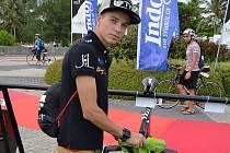 Jakub Langhammer před závodem na Bintanu. Skončil na skvělém šestém místě.