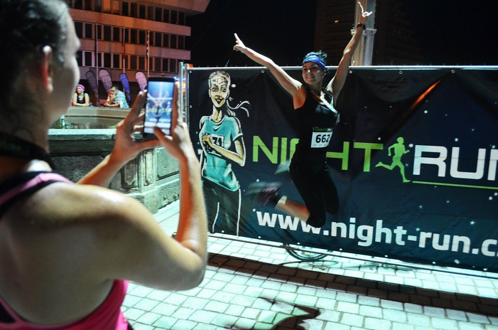 Noční běh v Mostě na 10 km a 5 km.